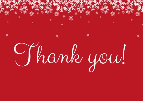 Christmas Thank you Blog