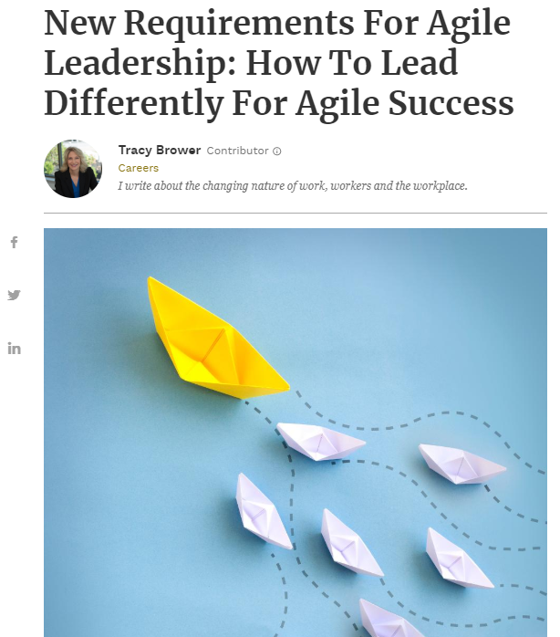 new requirements for agile leadership how to lead differently for agile success forbes